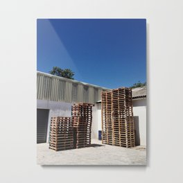 A Packaging Warehouse Metal Print