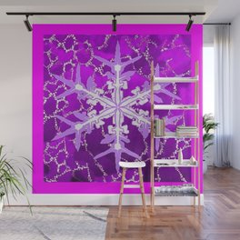 Amethyst Snowflake Abstract for February Babies Wall Mural