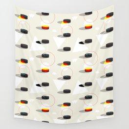 Pucks & Geometries #society6 #hockey #sport Wall Tapestry