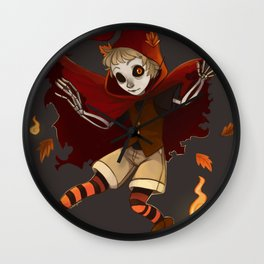 Spooktember's Ghost boy Wall Clock