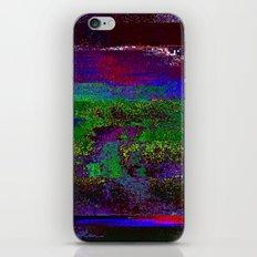 66-84-01 (Earth Night Glitch) iPhone & iPod Skin