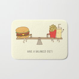balanced diet Bath Mat