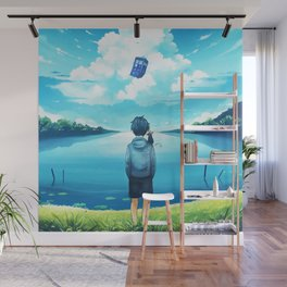 Tardis Art Flying Wall Mural