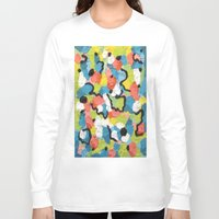 confetti Long Sleeve T-shirts featuring Confetti  by Laura Jane Mitbrodt