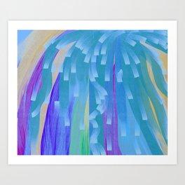 Showers of Blue Art Print