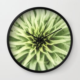 Sotol Agave Abstract by Murray Bolesta Wall Clock