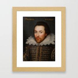 Vintage William Shakespeare Portrait Framed Art Print