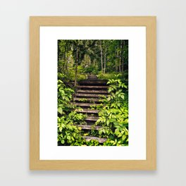 Vegetation Hijack Framed Art Print