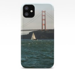 Sailing Under the Golden Gate Bridge Photography Print iPhone Case