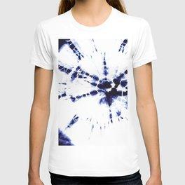 Indigo Shibori Tie Dye No 4 T-shirt