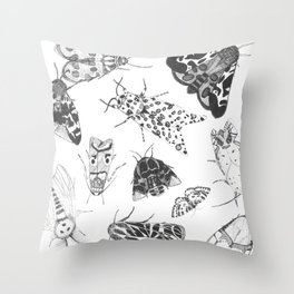 Moth Collection Throw Pillow