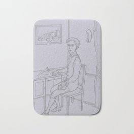 Young Man in the Study Bath Mat