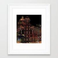 building Framed Art Prints featuring Building by Dangerpro