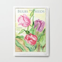 Old Bulbs & Seeds Pack Metal Print