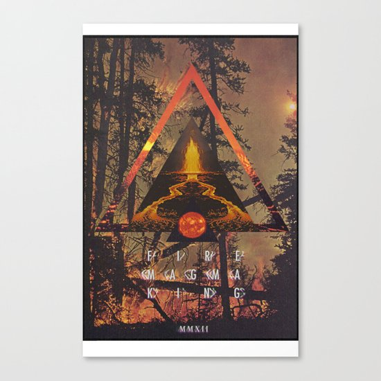 MYSTIC//FIRE Canvas Print