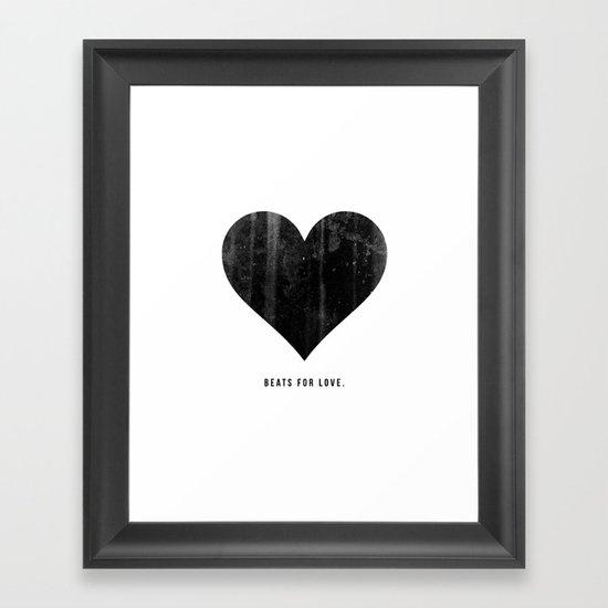 Beats for Love. Framed Art Print