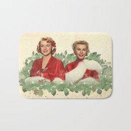 Sisters - A Merry White Christmas Bath Mat