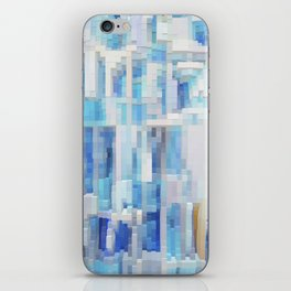 Abstract blue pattern 2 iPhone Skin