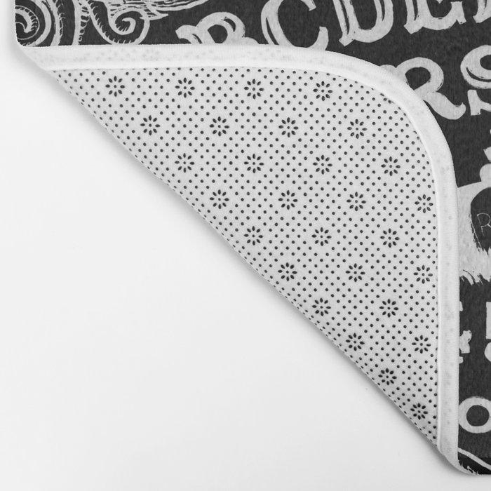 Ouija Board Black Bath Mat