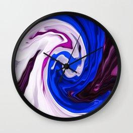 Painted Silk Wall Clock
