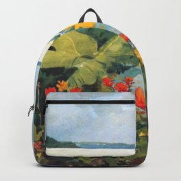 Flower Garden And Bungalow Bermuda 1889 By WinslowHomer | Reproduction Backpack