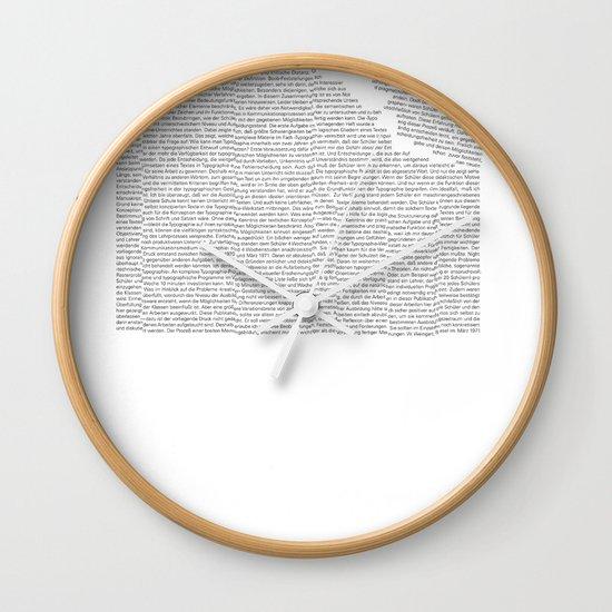 Erosion & Typography 2 Wall Clock