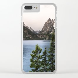Grand Teton Wanderlust Lake Adventure - Nature Photography Clear iPhone Case