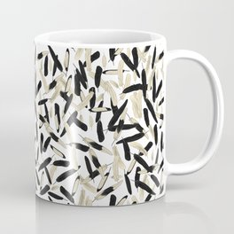 Black and White Feather Repeating Pattern Coffee Mug