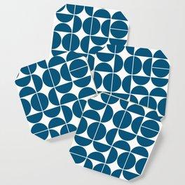 Mid Century Modern Geometric 04 Blue Coaster