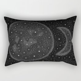 Starry Boho Moons Rectangular Pillow