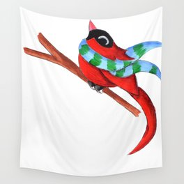 Warm Red Wall Tapestry