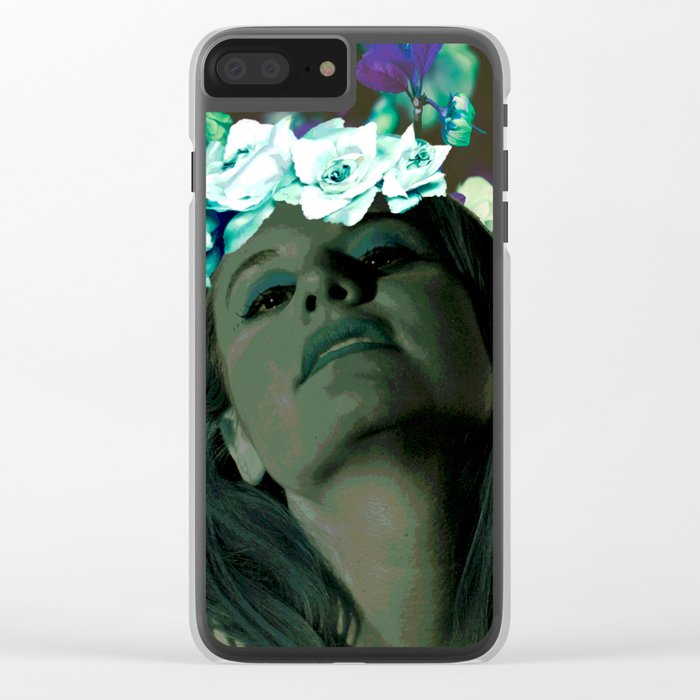 Queen of Spring Clear iPhone Case