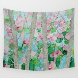 Dancing Cherry Blossom Trees Wall Tapestry