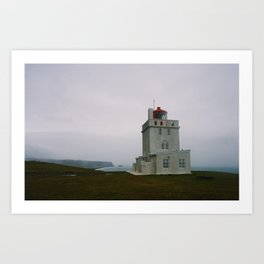 Dyrhólaey Lighthouse, Iceland Art Print