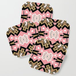 Geoplay : Pink Gold Tribal Coaster