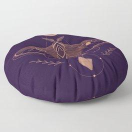 Metaphys Moth - Purple Floor Pillow