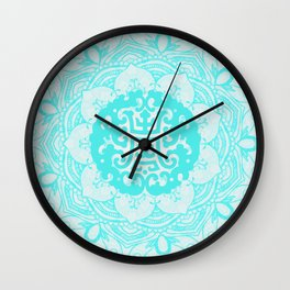 FLORAL MANDALA YASMINE TURQUOISE Wall Clock