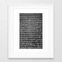 scripture Framed Art Prints featuring Scripture by ArpanDholi