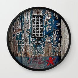 Painted Door Wall Clock