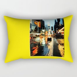 Americana - A rainy Day in Manhatten - NYC Rectangular Pillow