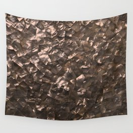 Glitter Rose Gold Shimmering Mother of Pearl Nacre Wall Tapestry