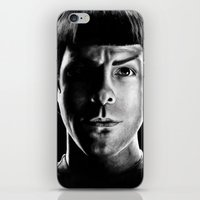 spock iPhone & iPod Skins featuring Spock by Sarah Riebe
