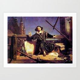 Matejko-Astronomer Copernicus-Conversation with God Art Print