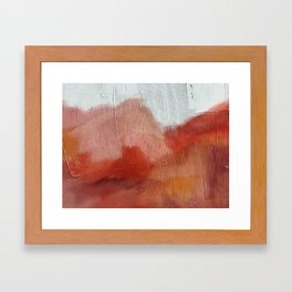 Desert Journey [2]: a textured, abstract piece in pinks, reds, and white by Alyssa Hamilton Art Framed Art Print