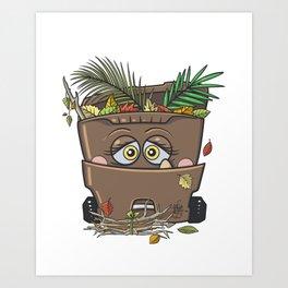 Yard Waste Monster Art Print