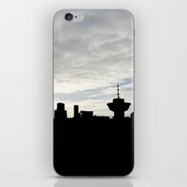 Cloudy Vancouver skyline iPhone Skin
