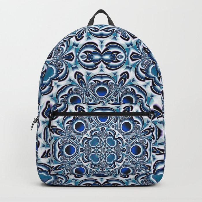Snowflake fractal pattern Backpack