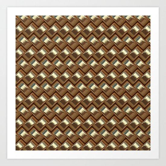 shiny elegant gold weave texture Art Print