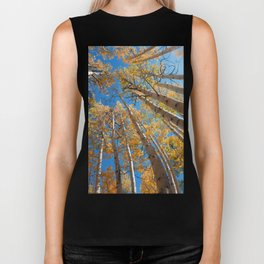Aspen Trees Against The Sky In Crested Butte, Colorado for #Society6 Biker Tank