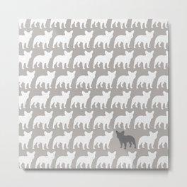 French Bulldog Silhouette(s) Metal Print
